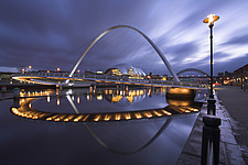 Gateshead Millennium Bridge with The Sage in the background - 11660-10-1
