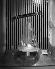 Christmas mantel and other displays at Marshall Field and Company, 1941 Dec - 70763-40-1