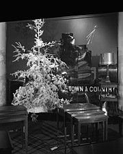 Christmas mantel and other displays at Marshall Field and Company, 1941 Dec - 70763-60-1