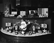 Christmas display in cosmetic section, 1941 Dec - 70764-10-1