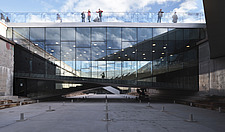 The floating bridges of the Danish Maritime Museum inside the dock at Helsingor, Denmark, by BIG Architects - 15094-10-1