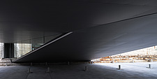 The floating bridges of the Danish Maritime Museum inside the dock at Helsingor, Denmark, by BIG Architects - 15094-100-1