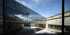 The floating bridges of the Danish Maritime Museum inside the dock at Helsingor, Denmark, by BIG Architects - 15094-30-1