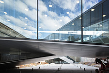 The floating bridges of the Danish Maritime Museum inside the dock at Helsingor, Denmark, by BIG Architects - 15094-40-1
