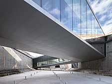 The floating bridges of the Danish Maritime Museum inside the dock at Helsingor, Denmark, by BIG Architects - 15094-70-1