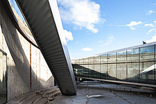 The floating bridges of the Danish Maritime Museum inside the dock at Helsingor, Denmark, by BIG Architects - 15094-120-1