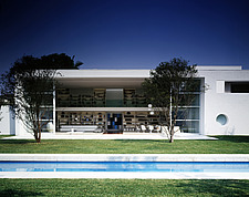 Exterior of modern house and garden, Brazil - 14416-110-1