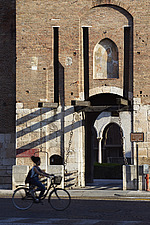 An exterior view of a historic building and museum in Verona in Italy, called Museo Civico di Castelvecchio - 15406-70-1
