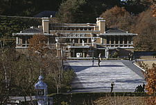 Imperial Hotel, 1923, front entrance preserved at Meiji Mura Museum, nr Nagoya - 15440-90-1