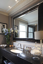 Guest bathroom with lights on - 15957-150-1