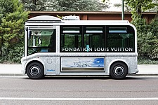The official bus transportation of the Fondation Louis Vuitton in Paris, France - 16096-410-1