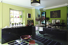 Kitchen in dramatic lime green and black - 16125-270-1