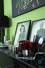 Old tinted family photos in the kitchen - 16125-280-1