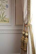 Golden tassles and braiding on the curtains - 16126-1320-1