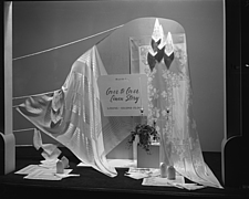 Window displays at Marshall Field and Company, including the After 5 Shop, 1943 Dec - 70884-10-1