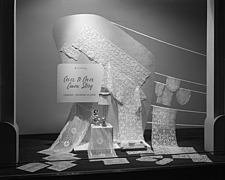 Window displays at Marshall Field and Company, including the After 5 Shop, 1943 Dec - 70884-40-1
