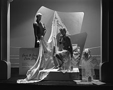 Window displays at Marshall Field and Company, including the After 5 Shop, 1943 Dec - 70884-50-1