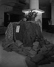 Parachute in Victory Center at Marshall Field and Company, 1943 Dec - 70886-20-1
