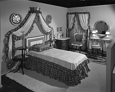 Bedroom display at Marshall Field and Company, 1943 Dec - 70887-10-1