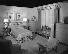 Bedroom display at Marshall Field and Company, 1943 Dec - 70887-20-1