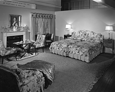 Bedroom display at Marshall Field and Company, 1943 Dec - 70887-30-1