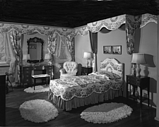 Bedroom display at Marshall Field and Company, 1943 Dec - 70887-40-1