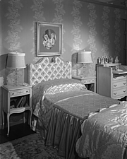 Bedroom display at Marshall Field and Company, 1943 Dec - 70887-50-1