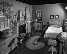 Bedroom display at Marshall Field and Company, 1943 Dec - 70887-60-1