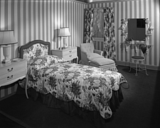 Bedroom display at Marshall Field and Company, 1943 Dec - 70887-70-1