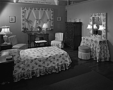 Bedroom display at Marshall Field and Company, 1943 Dec - 70887-80-1