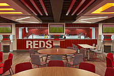 The Reds Bar at Anfield Stadium, home of Liverpool FC, Liverpool, UK - 16282-60-1