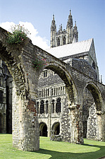 CANTERBURY CATHEDRAL  EXTERIOR VIEW OF TRANSEPT - 2137-60-1