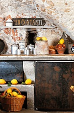 Rustic brick vaulted kitchen with lemons - 16440-950-1