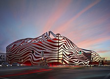 Exterior view of Petersen Automotive Museum, Los Angeles, California, USA - 16608-40-1