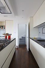 Interior view of a Clerkenwell loft apartment on Whitecross Street, London, UK - 16611-270-1