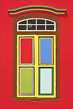 Colourful windows on buildings in Little India in Singapore, Asia - 16635-1190-1