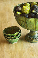 Close up of a green fruit bowl with figs - 16710-40-1