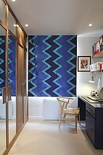 Study with blue blinds and built-in wardrobes - 16726-380-1