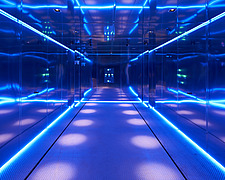 Private car lift with neon lights, for London luxury apartments                        - 16757-240