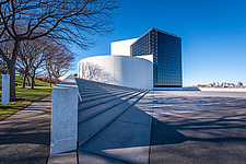 Exterior view of JFK Presidential Library and Museum in Boston  - 16798-10