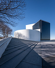 Exterior view of JFK Presidential Library and Museum in Boston  - 16798-20