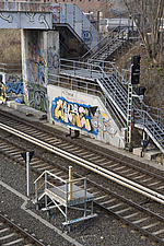 Trackside graffiti, Prenzlauer Berg, Berlin - 12106-50-1
