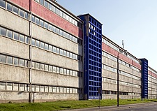 Facade of modernist factory, Chemnitz, Germany - 40085-1430-1