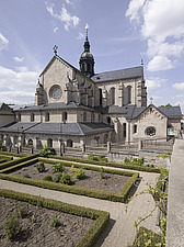 Exterior of Ebrach Abbey looking from the east, a former Cistercian monastery in Ebrach, Bavaria, Germany - 40034-10-1