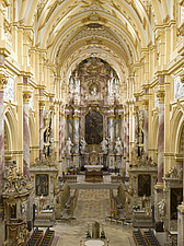 Nave in Ebrach Abbey, a former Cistercian monastery in Ebrach, Bavaria, Germany - 40034-120-1