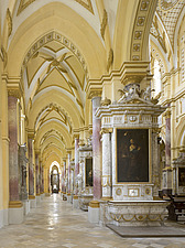 North Aisle in Ebrach Abbey, a former Cistercian monastery in Ebrach, Bavaria, Germany - 40034-140-1