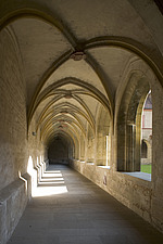 Open gallery looking on to the cloister at the former Dominican monastery in Bamburg, Bavaria, Germany - 40034-250-1