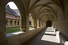 Open gallery looking on to the cloister at the former Dominican monastery in Bamburg, Bavaria, Germany - 40034-310-1