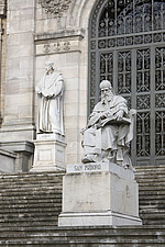 Statue of San Isidoro outside the National Library, Madrid, Spain - 40035-260-1