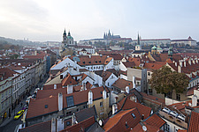 Panoramic cityscape over the rooftops of Prague, Czech Republic - 40090-220-1